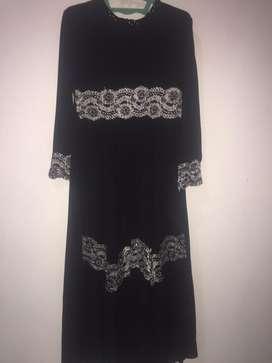 dress black mutiara