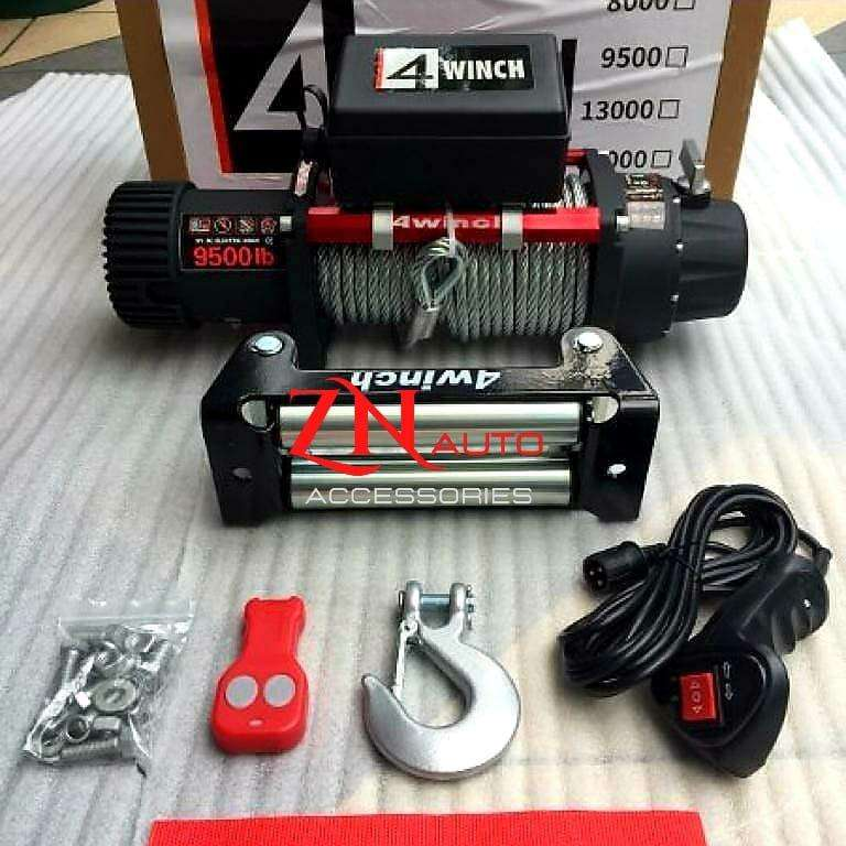 4winch 9500lbs cocok untuk tambang offroad kehutanan
