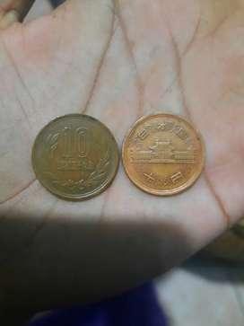 Uang koin kuno korea 10 Won