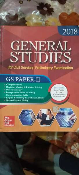 Book for General Studies Paper 2nd for the preparation of UPSC and PCS