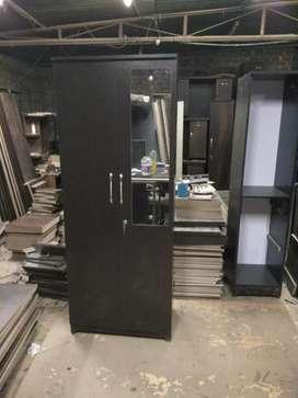 Brand new 2door wardrobe with mirror locker drawers and hanging rod