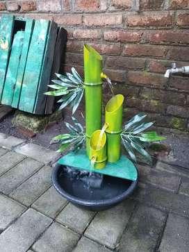 Air mancur replika bambu