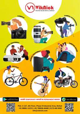 RENT DSLR, Lens, Projector, PlayStation and more items