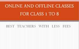 Online and Offline tutor for class 1 to 8