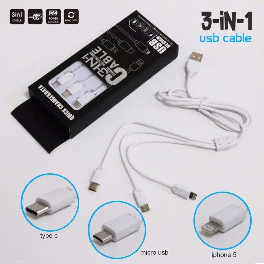Kabel data 3in1 iphone android