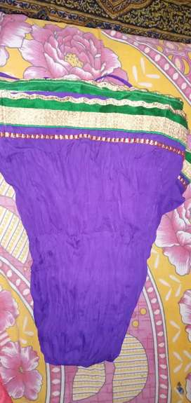 Violet colour long skirt
