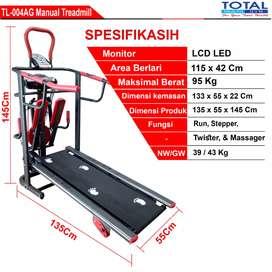 TL 004 manual treadmild 6 in 1 total fitness