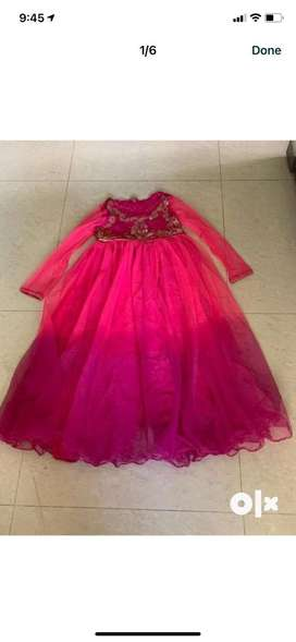 BIBA shaded  party gown for 8-9 year girl