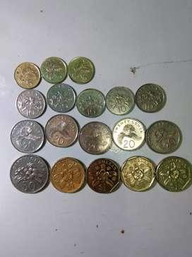 Dijual uang kuno singapura