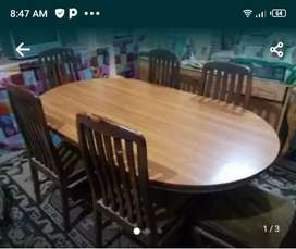 Dinning table full size with six chair
