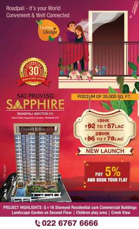 1 BHK Flats for Sale in Roadpali at Sai Proviso Sapphire, Navi Mumbai