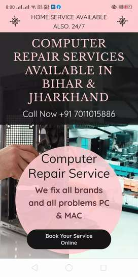 Computer Repair Home Service available in Bihar  & Jharkhand