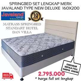 SpringBed set lengkap merk Javaland Type New Deluxe160x200|ANEKA KASUR