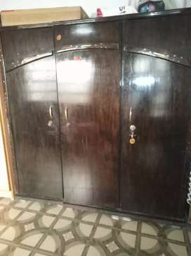 Double bed with cupboard