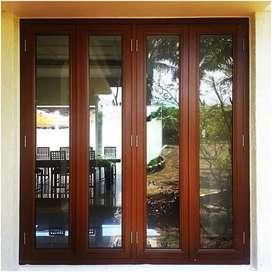 Satu set jendela plus kusen bahan kayu kamper Samarinda GRATIS LOSTER