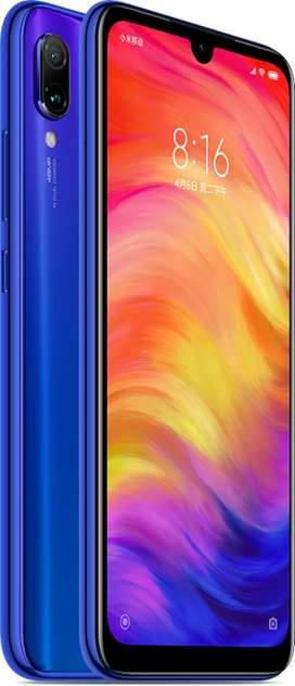 Redmi Note 7 Pro (128GB, Blue) New 100% working, in Warranty, Bill Box