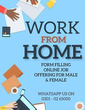 Student can now utilized free time in home earning - Form Filling Job