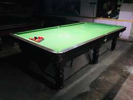 pool table nd snooker table in gud condition,steel cuehion,italian