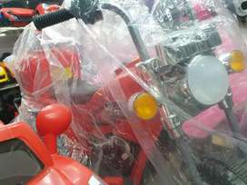 Kids driving electric BIKE at clearance sale only