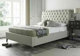 Handsome bed with side table