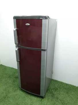 Maroon colour Whirlpool master mind 220 liters double door