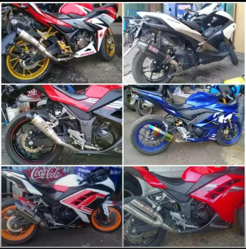 Knalpot Racing Untuk Motor Sport Ninja250.Mono.R25.Xmax.CBR250/150 Dll 0