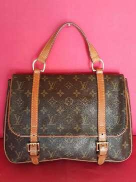 Tas import eks LOUIS VUITTON monogram handbag vintage ad no seri