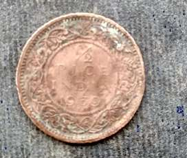 Old coins for selling  plce india 1939