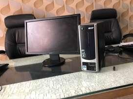 Acer amd dual core 2gb ram 250 gb hdd 17 inch led full set desktop