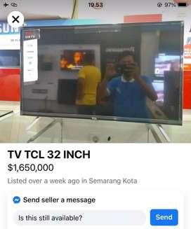 Tv tcl 32 inc kondisi baru