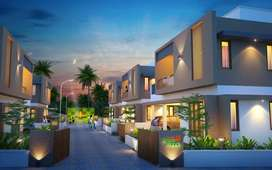Villa of 2120 sqft in 6 cents of land.
