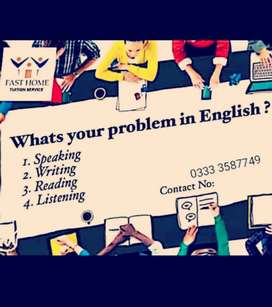 English Learning classes for the beginners.
