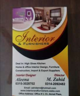 Acrylic, kitchens, furniture all types of interior