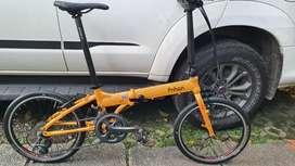 Sepeda lipat seli fnhon blast kuning