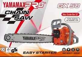 Mesin gergaji chainsaw 22in merk yamamax pro type GX-580