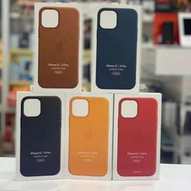 iPhone Leather Cover 11 Max 12 pro Plus 8 7 Xs X iPhone MagSafe Clear