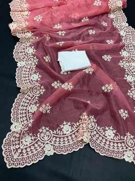 Beautiful organza silk saree