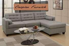436  new tux grey L sofa