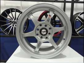 murah X01 Ms648 Hsr R15x6 H8x100-114,3 et 32 Silver Metalic
