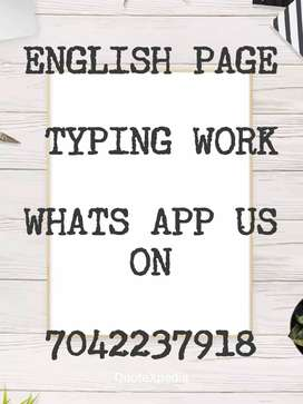 typing work available and daily paid salary