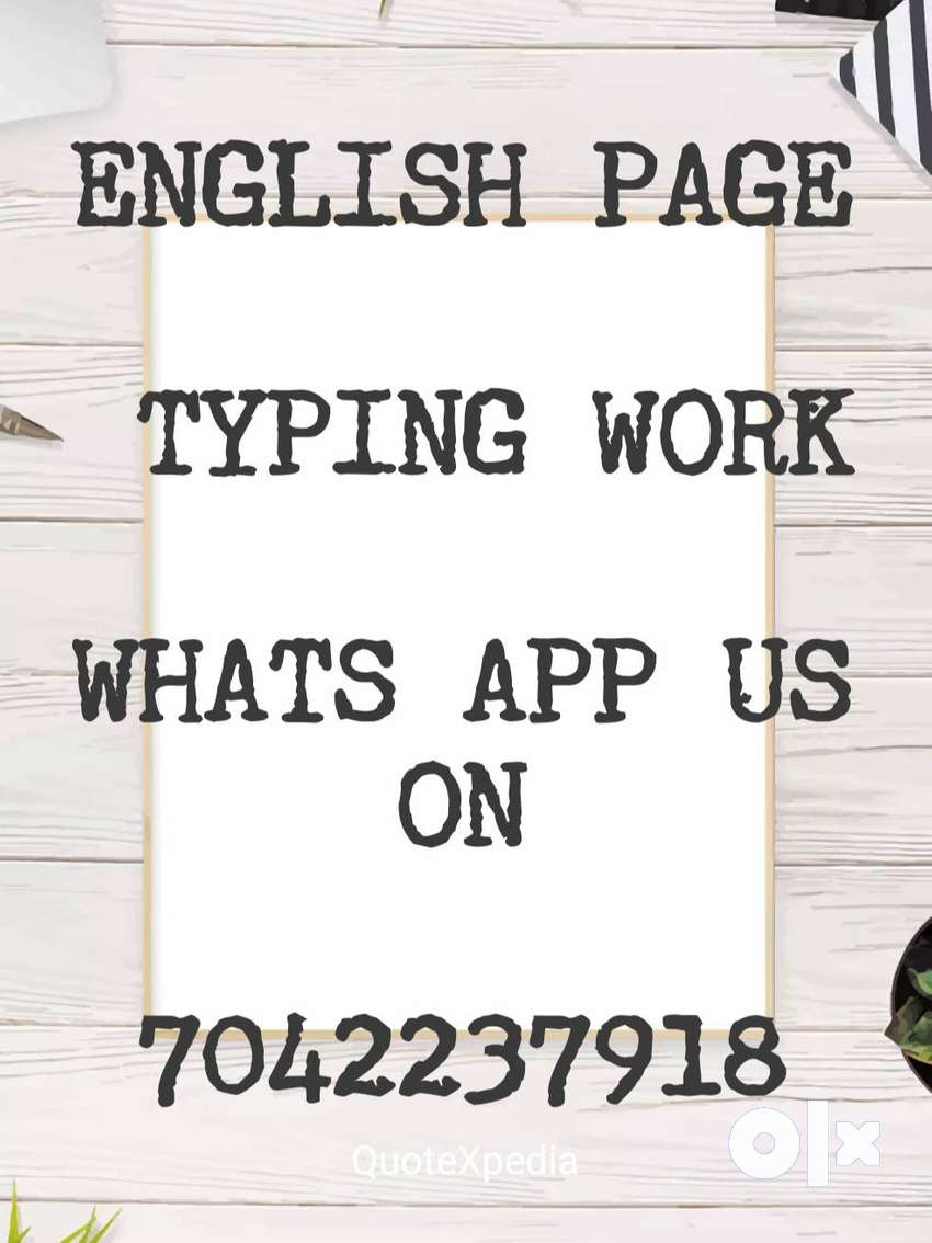 typing work available and daily paid salary 0