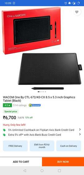 wacom one drawing tablet for sale