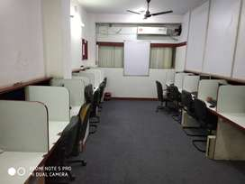 12seats+1cabin, fully furnished call center office space for rent.