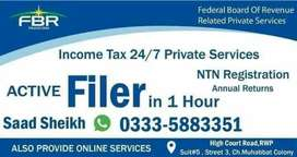 Filer - ATL - NTN - GST - SECP - INCOME TAX - FBR - Private Services