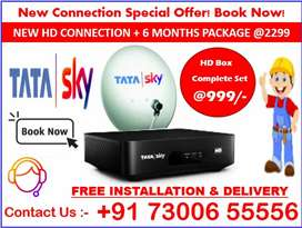 Tata Sky DTH Smart tv Free installation All India service provider COD