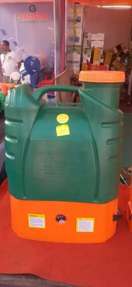 Spray machine for sanitiser
