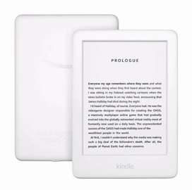 Amazon Kindle 9 eBook Reader Front Light 4GB Ads White + free cover