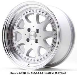 Bavaria Jd9016 Hsr R17x7.5-8.5 H4x100 et 45-37 Smfl