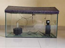 Fish tank 1.5 ltr with filter