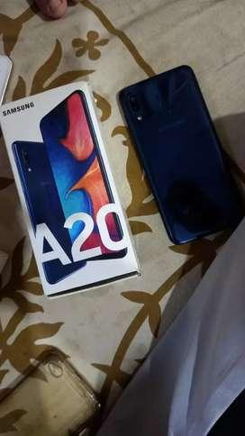 Samsung A20 3 32 new condition Sab saman hai